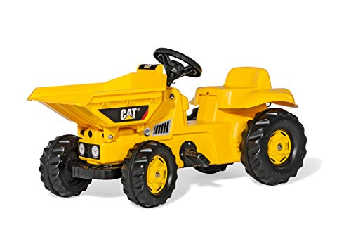 ROLLY TOYS - 02 417 9 - Tracteur À Pédales - Rollydumperkid Cat + Benne Avant