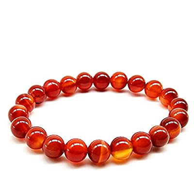 Amazon - 50% Off on  8MM Jade Bracelet, Womens 5A Red Agate Bracelet, Natural Agate Accessories