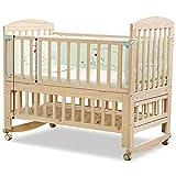 Cama de cuna de madera, multifunciónpull-out puntada cama grande cama bebé recién ahorran espacio cuna cuna con almacenamiento se puede convertir en un Shaker escritorio Play Bed Máximo 178x68cm
