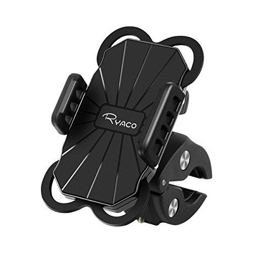 RYACO Porta Cellulare Bici, Supporto Bici Smartphone, Supporto per Cellulare 360° Rotabile, Manubrio Universale Bici Moto MTB per Tutti Gli Smartphone e Dispositivi Elettronici 3.5-6.3 pollici, Nero