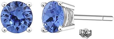 Swarovski Earrings GLIMMERING September Birthstone Sapphire Color Swarovski Stud Earrings for product image