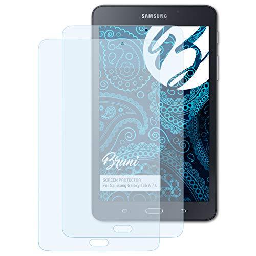Bruni Schutzfolie kompatibel mit Samsung Galaxy Tab A 7.0 Folie, glasklare Bildschirmschutzfolie (2X)