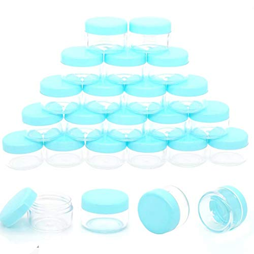 ZEJIA 5 Gram Cosmetic Containers 50pcs Sample Jars Tiny Makeup Sample Containers with lids(Green)