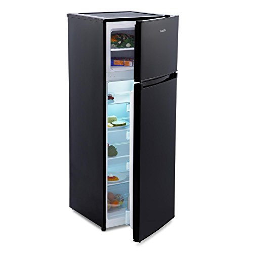 KLARSTEIN Height Cool Black - Nevera con congelador, refrigerador de 1