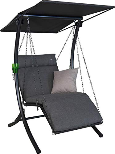 Angerer Swing Smart Hollywoodschaukel, grau, 1-Sitzer