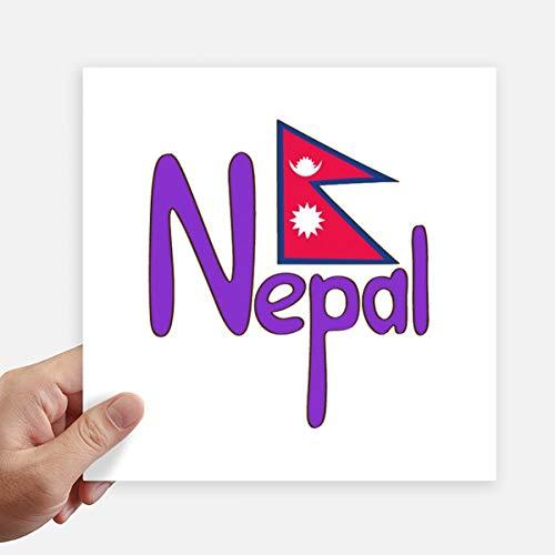 DIYthinker Nepal Nationale Vlag Rood Paars Patroon Vierkante Stickers 20Cm Wandkoffer Laptop Motobike Decal 4 Stks