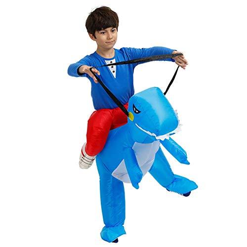 HGYJ Ropa Inflable Nios Adultos Traje de Dinosaurio Tridimensional Montaje Fiesta de cumpleaos de Halloween Danza Rendimiento Foto Ropa,Blue,Toddler