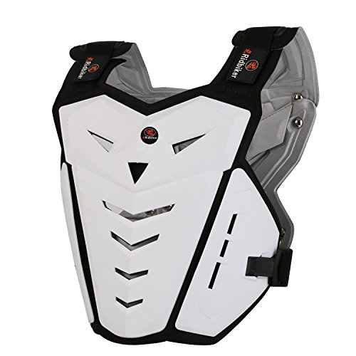 RIDBIKER Motorcycle Armor Vest Motorcycle Riding Chest Armor Back Protector Armor Motocross Off-Road Racing Vest,Black