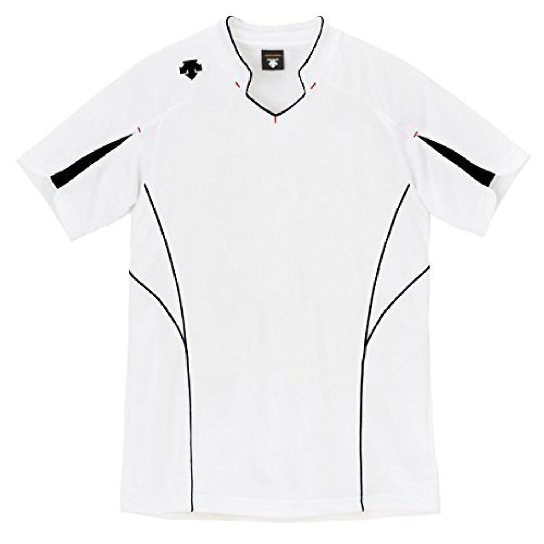 パリティ無数の火山学者(デサント) DESCENTE バレーボール 半袖ゲームシャツ DSS-4822 (WBK ホワイトxブラック, XO)