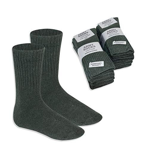 feelzone 8 Paar Herren Army Socken, Outdoor, Bundeswehr, Jäger, Sport (43/46)