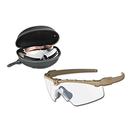 Oakley SI Ballistic M-Frame 3.0 Shooting Glasses Dark Bone Frame/Clear, Gray...
