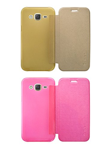 Covernew for Samsung Galaxy Grand 2 - Sm-G7102Zdains - Gold, Pink(Pack of 2)