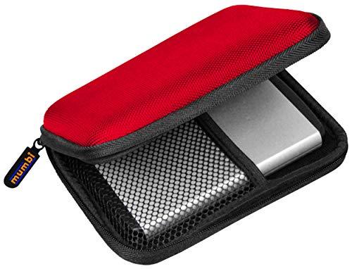 Mumbi - Funda para disco duro externo 2.5', color rojo