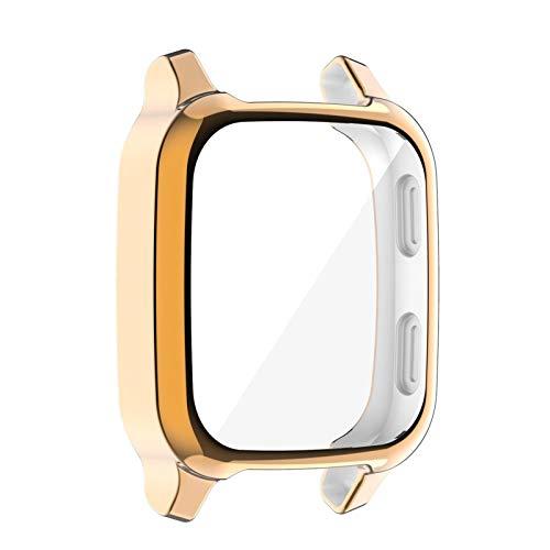 brightsen Ajuste para Garmin Venu SQ Protector Caso, Funda de reloj deportivo TPU Protector de pantalla Hueco para Garmin Venu SQ