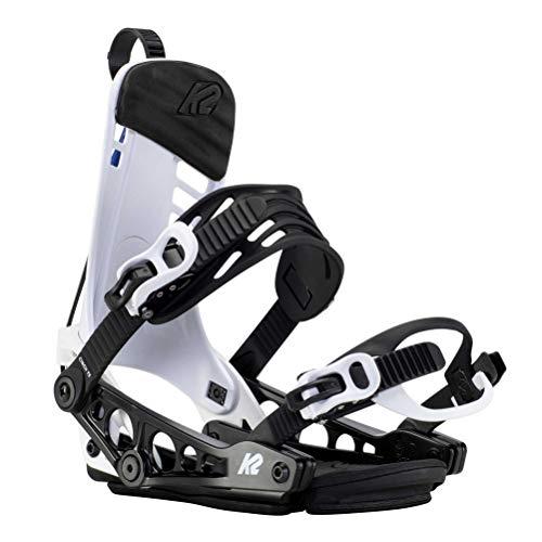 K2 Snowboarding Damen Cinch TS Snowboard-Bindung, White, L (EU: 40.5-44.5 / UK: 7-10 / Mondo: 26-29)