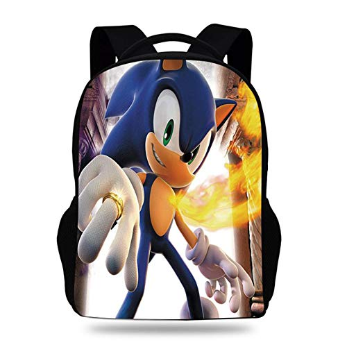 Sonic The Hedgehog 3D Travel Laptop Backpack, Business Backpack with USB Charging Port, Large Computer Backpack School Daypack Backpack,1