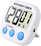 Magnetic Digital Kitchen Timer Clock Count Down Clock Alarm Stopwatch with Large LCD