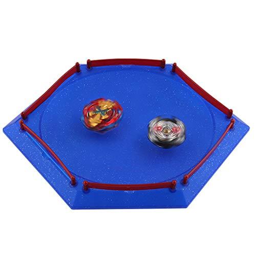 Stadium Arena for Beyblade, Burst Gyro Arena Disk Battle Top Launcher Stadium Toy Accessories for Boys Children Birthday Gifts, Blue