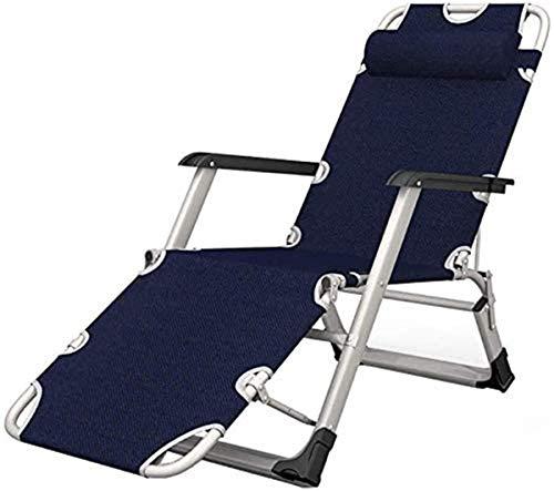 Chaises classiques Lounge Sun Lounger/Heavy Duty chaises Zero Gravity Garden Patio extérieur Transats Chaises pliantes inclinables Chaise longue Accueil Chaises longues (Couleur: Non Mat) [mise à ni