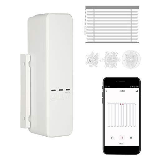 Kecheer WIFI Controlador de persianas enrollables,Motor de cortina wifi inteligente motorized, Motores para persianas Compatible con Alexa Google Home