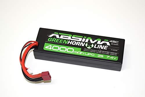 Absima 4140008 4140008-Absima Car/RC Auto LiPo Stick Akku-Pack 7.4V-45C 4000 Hardcase (T-Plug), Mehrfarbig