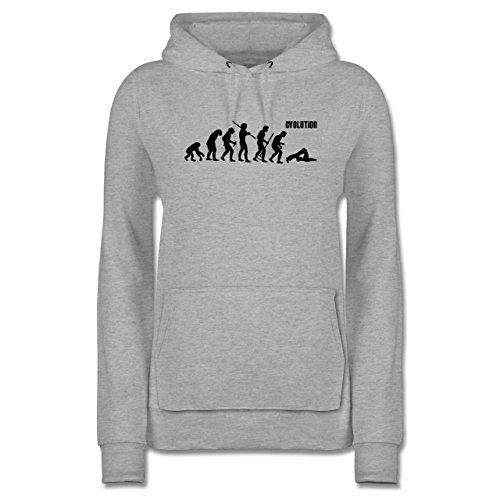 Evolution - Pilates Evolution - XL - Grau meliert - JH001F - Damen Hoodie und Kapuzenpullover für Frauen
