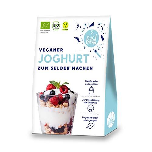 Fairment Bio Joghurtkultur zur Herstellung von veganem Joghurt - Joghurt selber machen - enthält 3 Beutel Joghurtferment für die Herstellung von bis zu 30x 1 Liter Kokosjoghurt, Sojajoghurt usw.
