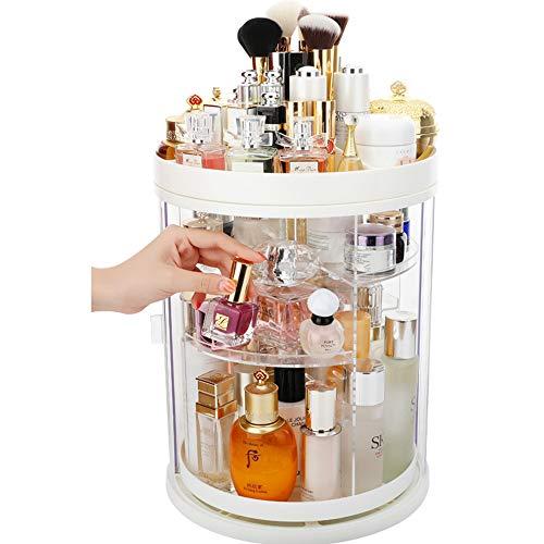 JUNJP Rotary Make-up Opbergdoos, Verstelbare Sieraden en Cosmetica Parfum Display Standaard, Grote capaciteit, Geschikt voor Dressing Tafel Slaapkamer Badkamer