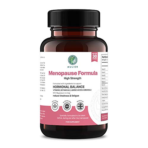 Mulier Menopause, Perimenopause Formula | Effective Support for Hot Flushes, Night Sweats, Weight Gain, Brain Fog, Mood Swings and Fatigue | 14 Supporting Ingredients | Vegan Friendly, 1 Month Supply