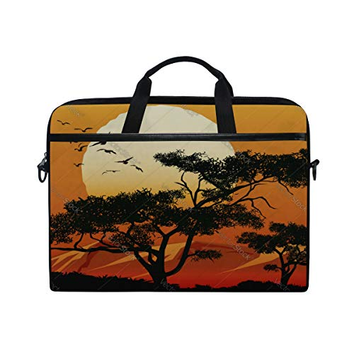 Laptop Bag Tree Branches Flowers 15-15.4 Inch Laptop Case Briefcase Messenger Shoulder Bag for Men Women College Students Business People Office W