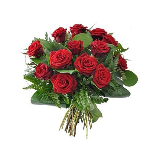 El Ramo más amoroso....rosas ROJAS pasión! 12 rosas rojas de la mejor calidad acompañadas de verdes variados y envueltas en papel celofán y lazo....listas para regalar. Elige el día de entrega!, de lunes a sábado en toda la Península. La elección de ...