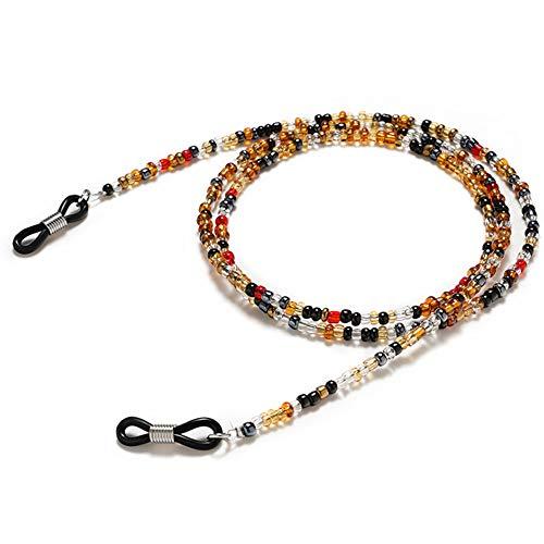 Cadena de gafas ajustable con cuentas para gafas, collar de cadena multicolor con cuentas para gafas de sol, para mujeres, hombres y niños