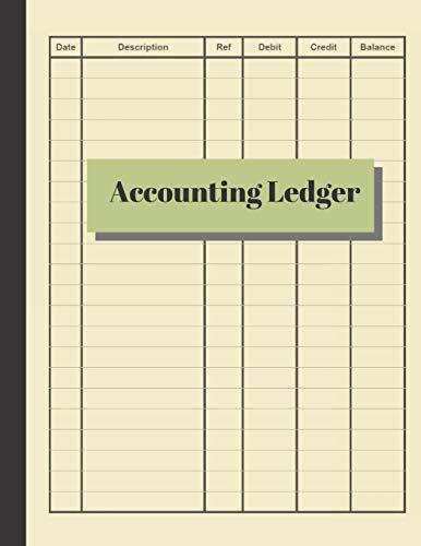 Basic ledger book for monthly weekly personal ledger accounting journal pages  booksheets  paper for general accounting with 6 columns accounting paper for small business with simple and large  perfectbound for record keeping in offices, Accounting Ledger