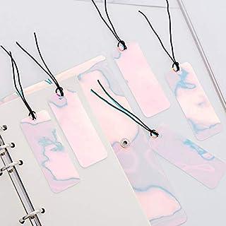 4 قطع شفافة من البولي فينيل كلورايد مضادة للماء من زيجن، مؤشّر بالليزر للكتب المدرسية ولوازم المدارس