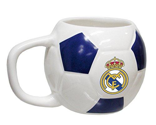 CYP IMPORT S MG-200-RM Taza cerámica con forma de balón 35 cl, diseño Real Madrid, Cerámica, Multicolor, 15x5x10 cm