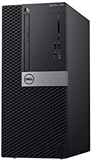 Dell OptiPlex 7060 Tower Desktop PC Intel Core i7-8700, 32GB DDR4 RAM, 1TB HDD + 240GB SSD, 4GB Dedicated Graphic Card, Wi...