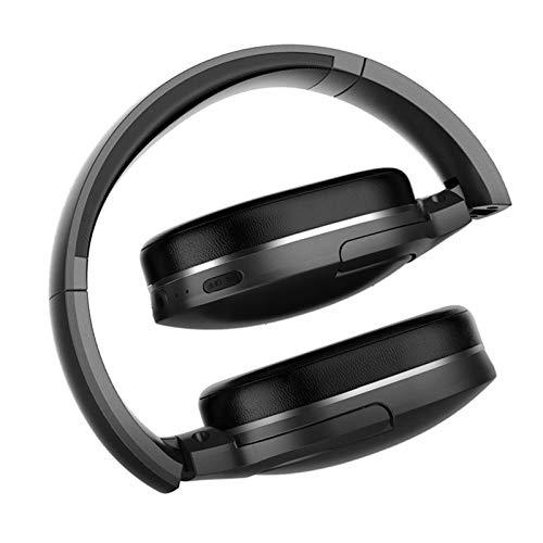 Headset Wireless Headset Sport Bluetooth 5.0 Headset Freisprech-Headset Earplugs Head-Mounted Tragbarer Sport im Freien Headset (Color : Black)