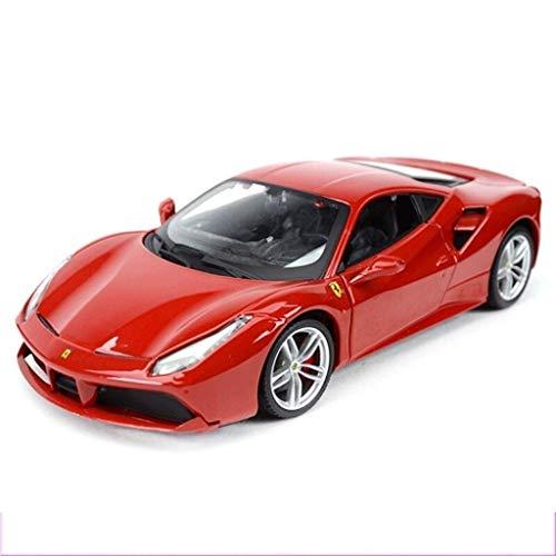 Knmbmg Modellauto 1:24 Ferrari 488 GTB/California / F12 Red Alloy Simulation Kinderspielzeugauto Modellfahrzeug Metallauto Modellspielzeug Junge Mädchen Geburtstagsspielzeug for Kinder Geschenk Alte