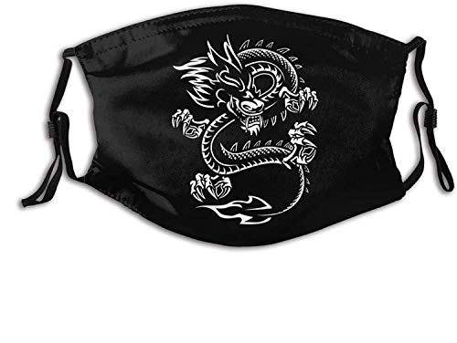 Pasamontañas con diseño de mazmorras y dragones, color negro