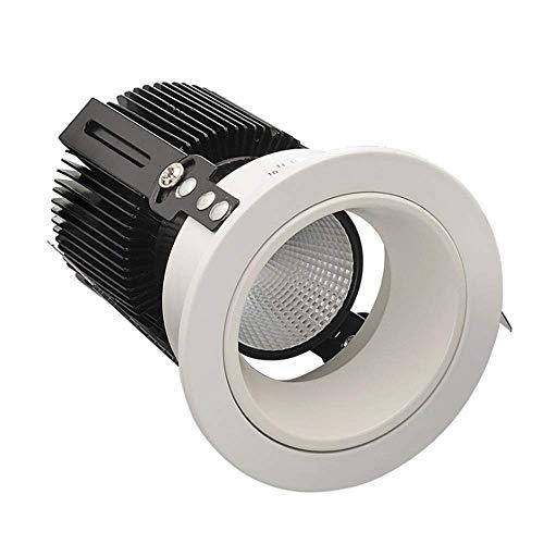 5 Paket COB Downlight Tiefe Anti-Glare LED Einbaustrahler für Hotel Bekleidungsgeschäft Kommerzielle Beleuchtung Deckenleuchte Weitdruck AC85-265V CRI80 Einbaustrahler (Farbe: 6500k)
