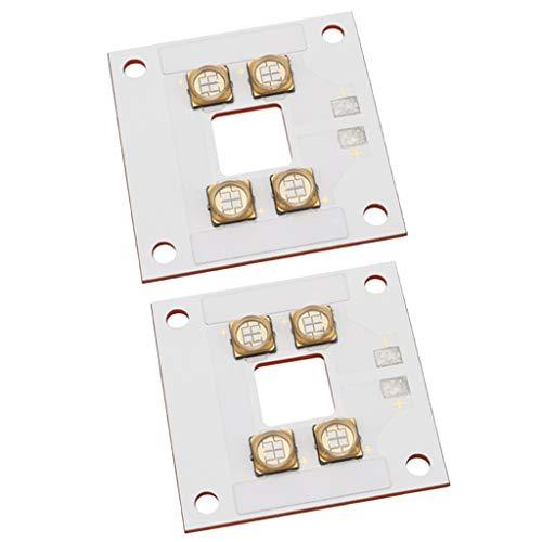 XBaofu Impresora 3D 2pcs 40W curado UV LED Panel Fuente de la lámpara de Cobre en láminas for la Fuente de luz DLP 40W UV LED con el Agujero