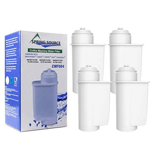 A-MIND Kompatibler Kaffeemaschinen Wasserfilterersatz für Brita Intenza,Passend für EQ.Serie,Supresso.Serie, TCZ-7003,TZ-70003,TCZ-7033 und andere Modellde(4Stück)