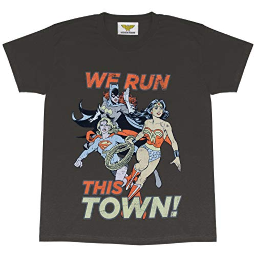 DC Comics Wonder Woman, Supergirl and Batgirl We Run This Town T-shirt, Loose Fit, S to XXL