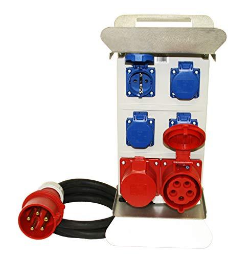 Stromverteiler 32A 400V FI Absicherung Baustromverteiler Verteiler Steckdosenverteiler