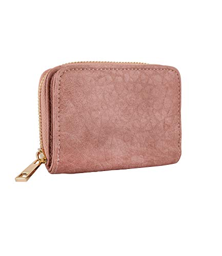 SIX Damen Portemonnaie aus veganem Leder in edlem Rosé (703-656)