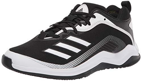 adidas Men's EG7608 Baseball Shoe, Black/White/White, 4