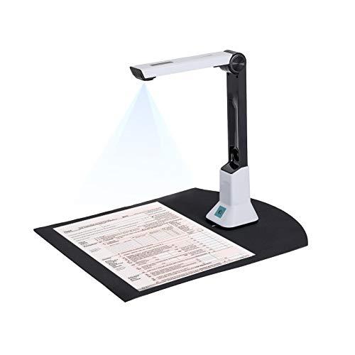 Ardorman Dokumentenkamera-Scanner Für Lehrer, Tragbarer HD-Dokumentenscanner Größe A4, Tragbarer USB-Kamerascanner, Für Dateierkennung, Beziehungen, Online-Unterricht Und Büro