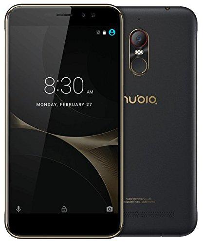 Nubia N1 Lite - Smartphone con Pantalla de 5.5' (4G, Quad Core, 16 GB Almacenamiento Interno, 2 GB RAM, cámara de 8 MP, 1.3 GHz, Android 6.0) Color Oro y Negro