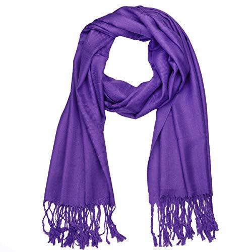 Falari Women's Soft Solid Color Pashmina Shawl Wrap Scarf 80' X 27'
