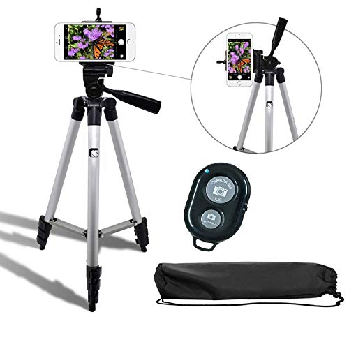 Syvo Adjustable Aluminium Alloy Tripod Stand Holder for Mobile Phones & Camera, 360 mm -1050 mm, 1/4 inch Screw +...